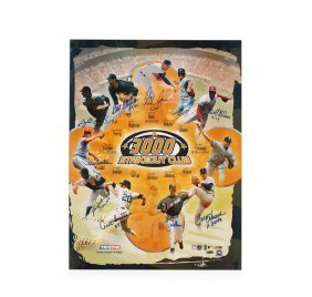 Signed Mlb Baseball 300 Strike Out Club Poster