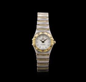 Omega Two-tone Diamond Constellation Ladies Watch