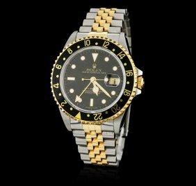 Gents Rolex 18kt Yellow Gold Gmt-master Ii Wristwatch