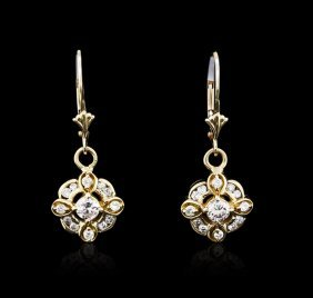 14kt Yellow Gold 0.70ctw Diamond Earrings