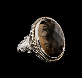 Sterling Silver 16.15ct Smokey Quartz