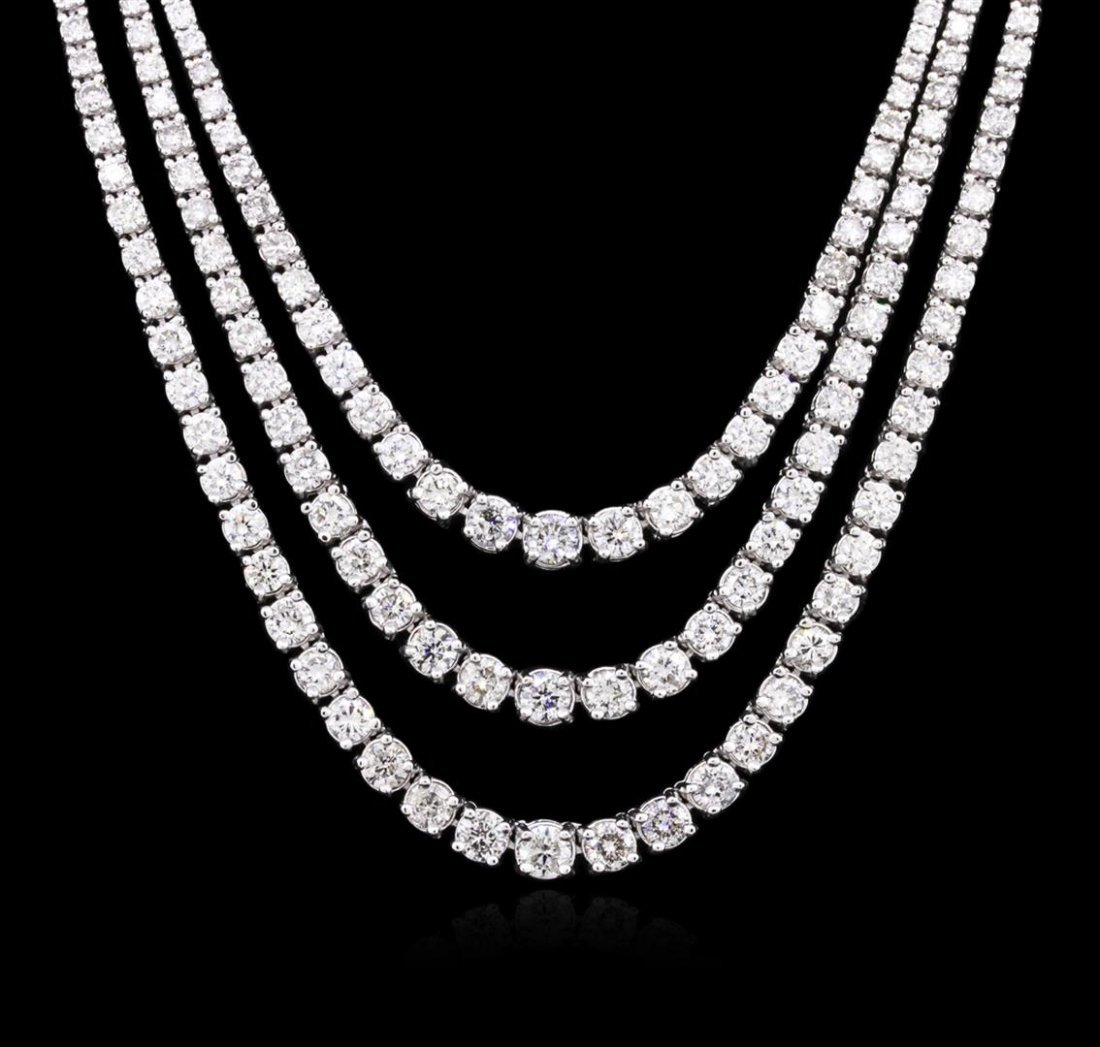 14KT White Gold 10.26ctw Diamond Necklace