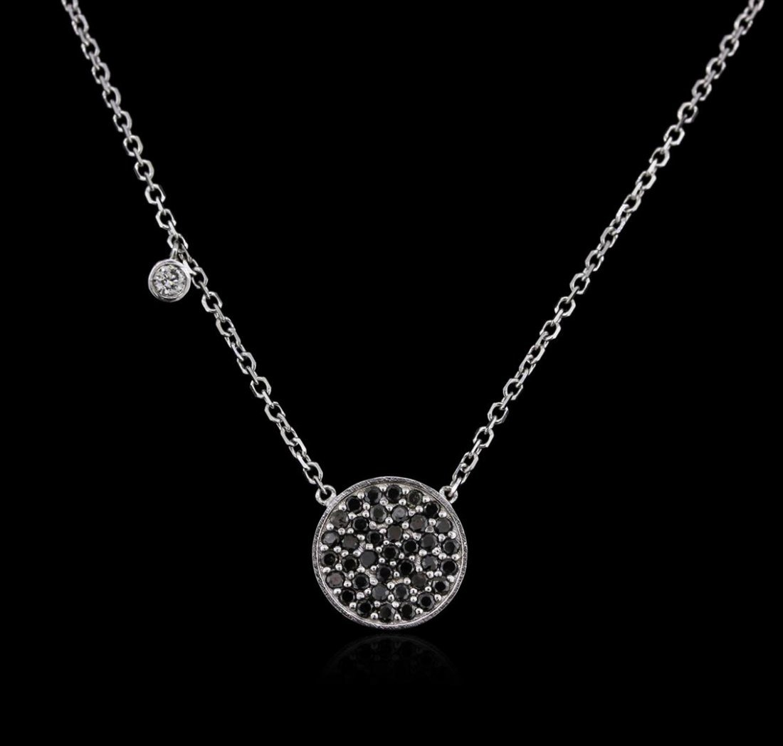14KT White Gold 0.55ctw Black Diamond Necklace