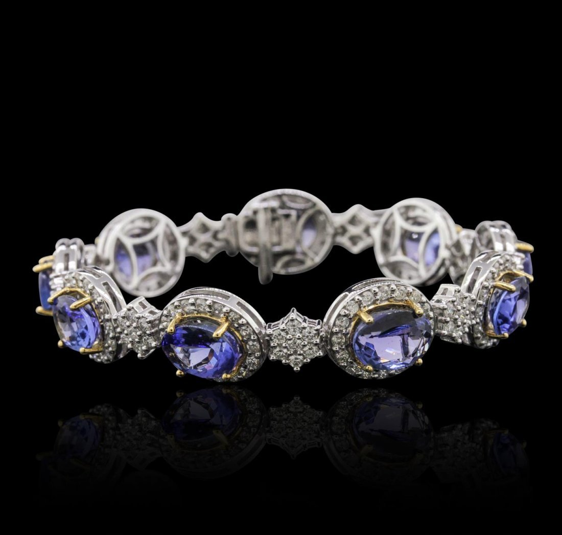 14KT Two-Tone Gold 15.66ctw Tanzanite and Diamond