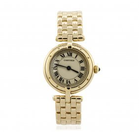Cartier 18kt Yellow Gold Vlc Panthere Ladies Watch