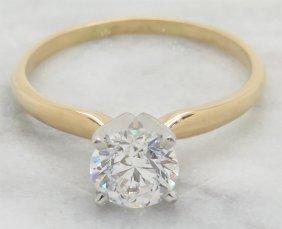 1.01ct Diamond Ring - 14kt Yellow Gold