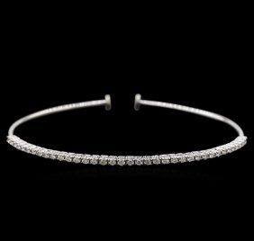 0.82ctw Diamond Bracelet - 14kt White Gold