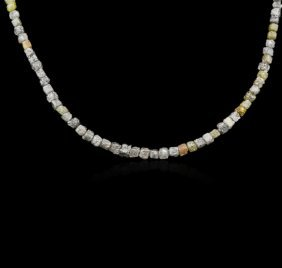 14kt White Gold 52.12ctw Rough Diamond Necklace