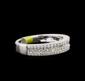 0.90ctw Diamond Ring- 14kt White Gold