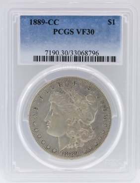 1889-cc Pcgs Vf30 Morgan Silver Dollar