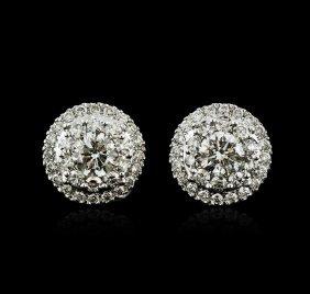 14kt White Gold 1.00ctw Diamond Stud Earrings