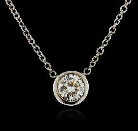 14kt White Gold 0.33ct Diamond Necklace
