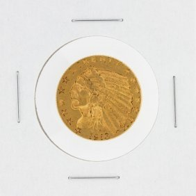 1913 $5 Xf Indian Head Half Eagle Gold Coin