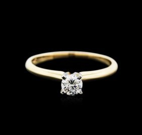 14kt Two-tone Gold 0.30ct Diamond Solitaire Ring