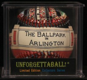 """Unforgettaball! """"ball Park In Arlington"""" Collectable"""