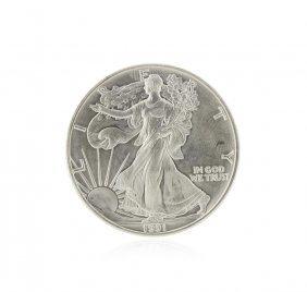 1991 American Silver Eagle Dollar Bu Coin
