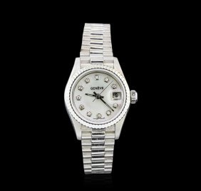 Geneve Stainless Steel Ladies Watch