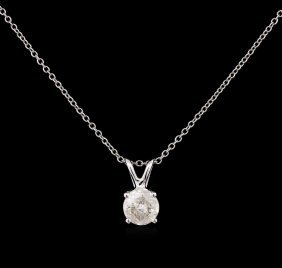 0.65ct Diamond Pendant With Chain - 14kt White Gold