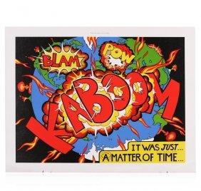 Kaboom After Lichtenstein By Bragg