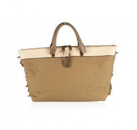 Large Chloe Heloise Brown Satchel Bag Bowing : Lot 45