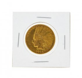 1913 $10 Xf Indian Head Eagle Gold Coin