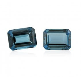 60.23ctw. Natural Emerald Cut Blue Topaz Parcel