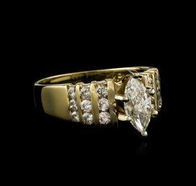 14kt Yellow Gold 0.91ctw Diamond Ring