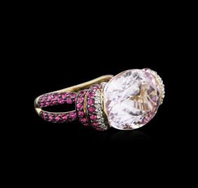 14kt Yellow Gold 16.58ct Kunzite, Pink Sapphire And