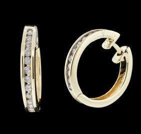 14kt Yellow Gold 0.39ctw Diamond Earrings