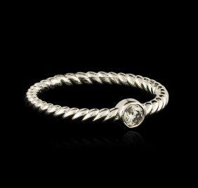 14kt White Gold 0.09ct Diamond Ring