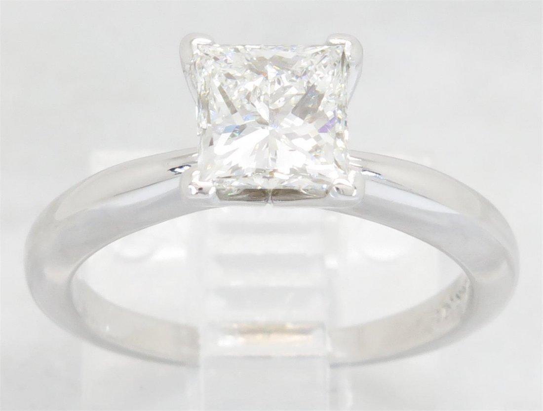 GIA Cert 1.01ct Diamond Ring - 14KT White Gold