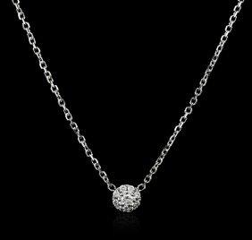 14kt White Gold 0.20ctw Diamond Necklace