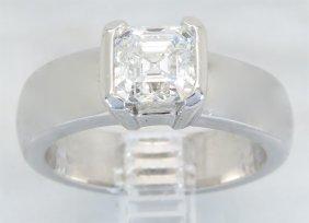 Gia Cert 1.56ct Diamond Ring - 14kt White Gold