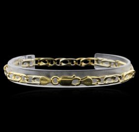 18kt Two-tone Gold Link Bracelet