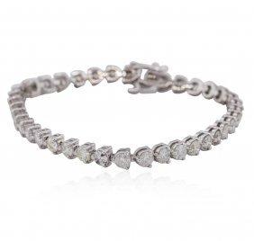 14kt White Gold 8.47ctw Diamond Tennis Bracelet