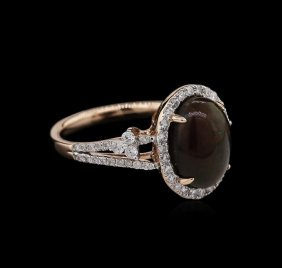 2.00ct Opal And Diamond Ring - 14kt Rose Gold