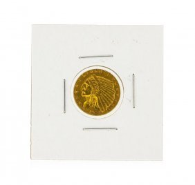 1926 $2.50 Cu Indian Head Quarter Eagle Gold Coin