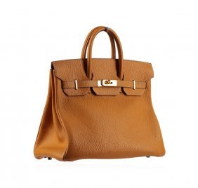 Hermes Birkin Light Brown Leather Bag