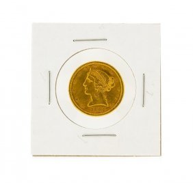 1881-s $5 Cu Liberty Head Half Eagle Gold Coin