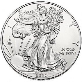 2015 American Silver Eagle Dollar Gem Bu Coin