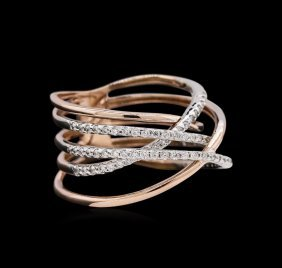 0.52ctw Diamond Ring - 14kt Two-tone Gold