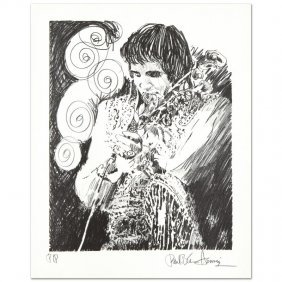 Elvis (holding Mic) By Henrie (1932-1999)