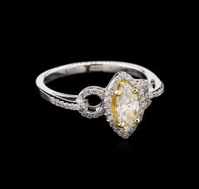 Egl Usa Cert 0.71ctw Diamond Ring - 18kt White Gold