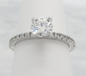 1.14ctw Diamond Ring - 14kt White Gold