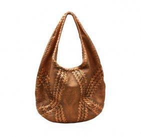 Bottega Veneta Copper Deerskin Cervo Hobo Bag