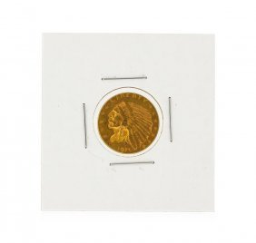 1915 $2.50 Au Indian Head Quarter Eagle Gold Coin