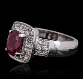 14kt White Gold 1.62ct Ruby And Diamond Ring