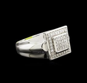 0.43ctw Diamond Ring - 14kt White Gold