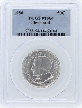1936 Pcgs Ms64 Cleveland Centennial Commemorative Coin