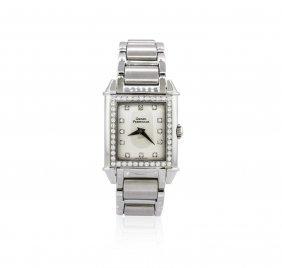Girard Perregaux Stainless Steel Diamond Watch